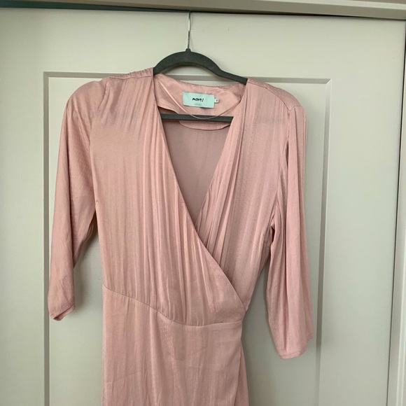 Nude/Pink Wrap Dress